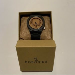 Bobobird Wooden Watch Antlers Hunting with Leather Strap New In Box